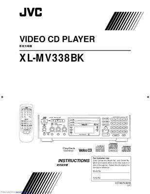 JVC XL-MV338BK Video CD Player Owners Instruction Manual