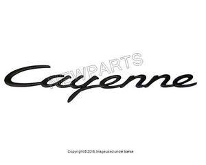 For Porsche Cayenne Base 2004-2008 Rear Black Emblem