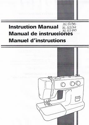 Brother XL5130 XL5232 XL5340 Sewing Machine Users Guide