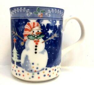 Noritake Epoch Mr. Snowman Christmas Winter Holiday Mug Cups
