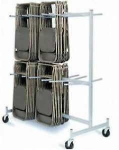 details about hanging rolling folding chair storage cart rack 2 tier chair truck dolly steel