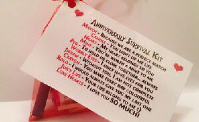 Anniversary Survival Kit Novelty Fun Gift Husband Wife