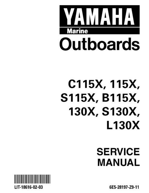 Yamaha Outboard service manual 1999 C115X, 115X, S115X