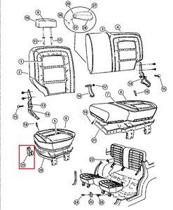 55195551 Rear Bench Seat Hinge Plate Jeep GRAND CHEROKEE