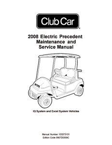 2008 Club Car Electric Precedent IQ Excel System