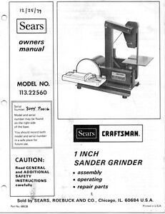 1979 Craftsman 113.22560 1