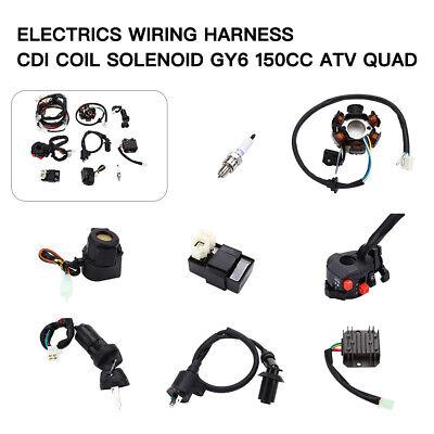 Electrics Wiring Harness CDI Regulator Start Switch GY6