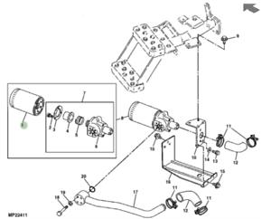 Genuine John Deere Compact Tractor Filter RE27284 1250