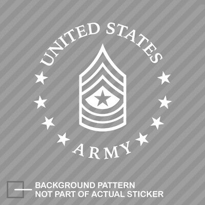 E-9 Sergeant Major US Army Rank Sticker Die Cut Decal SGM