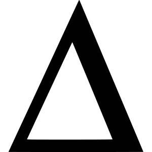 Delta Vinyl Sticker Decal Greek Letter D - Choose Size ...