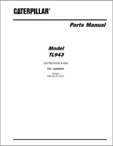 CAT Caterpillar TL943 Telescopic Forklift Parts Manual