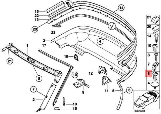 Genuine BMW Z3 M Roadster Z3 1.8 1.9 2.0 2.2i 2.5 2.5i