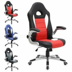 Office Chair With Adjustable Arms How To Build A Lifeguard Cruz Sport Racing Car Leather Gaming Image Is Loading