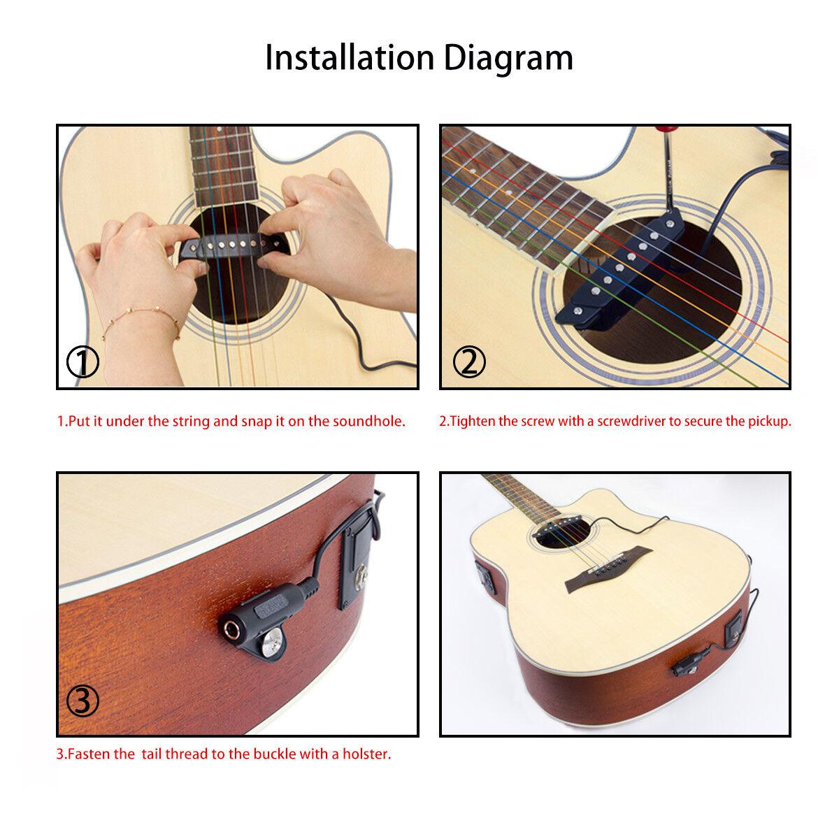 hight resolution of belcat sh 85 acoustic guitar soundhole pickup 6 string for sale online ebay