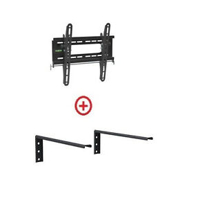Low Profile LCD LED TV Tilt Wall Mount 18-32 with Single
