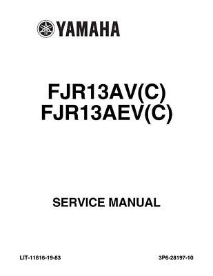 Yamaha FJR1300A E FJR13 ES ABS 2006 2007 Repair Service