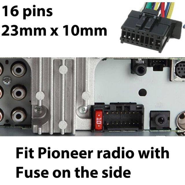 pioneer iso wiring harness fit mvhx175ui dehx1750 dehx2750ui mvhx375bt