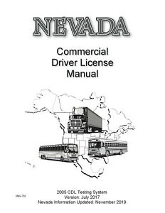 COMMERCIAL DRIVER MANUAL FOR CDL TRAINING (NEVADA) ON CD