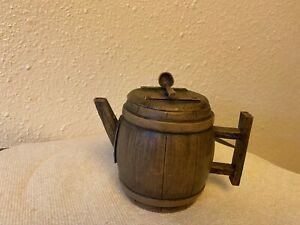 Vintage Barrel shape Teapot, Chinese, Yixing Zisha Clay Teapot rare signed