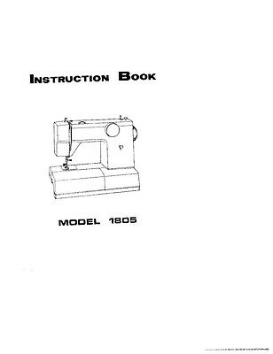 White W1805 Sewing Machine/Embroidery/Serger Owners Manual