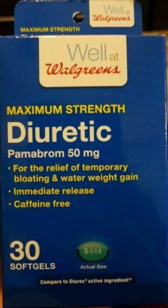 Walgreens MAXIMUM Strength Diuretic Pamabrom 50 MG 30 ...