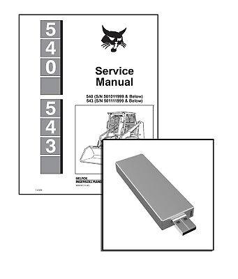Bobcat 540, 543 Skid Steer Loaders Service Repair Manual