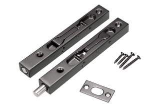 Door Flush Bolt Concealed Security Door Lock Stainless Steel Black 6 Inch 2Pcs   eBay