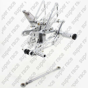 US Stock For Yamaha YZF-R1 2004-2006 CNC Rearset Foot Pegs