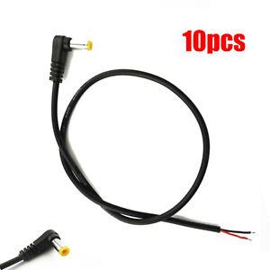 10pcs DC Tip Power Plug Jack Connector 5.5 x 2.1mm Male