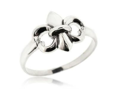 Gorgeous 925 Sterling Silver Fleur De Lis Ring For Women Orleans Size 5 12 New Ebay