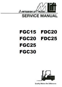 Mitsubishi Forklift FGC20 FGC25 FGC30 ENGINE AND SERVICE