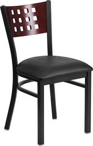 metal restaurant chairs white club 130 black decorative back 34 matching image is loading