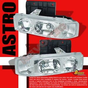 19952005 Chevy Astro Van GMC Safari Chrome Headlights