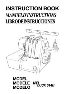 JANOME My Lock 644D * Instructions or Service manual
