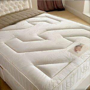 Image Is Loading New Deluxe Beds Chardonnay Open Spring Mattress Free