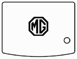 1962 1980 MG B C GT Trunk Rubber Floor Mat Kit with MG-01