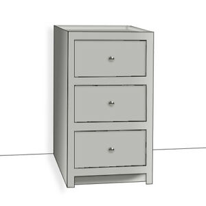 kitchen base cabinet brushes pine country style painted 3 drawer 500mm ebay image is loading