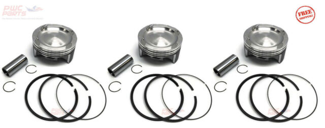 3x SeaDoo 4-TEC 1mm+ Piston/Ring Set Kit RXT-X RXP-X GTX