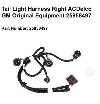 Tail Light Harness Right ACDelco GM Original Equipment
