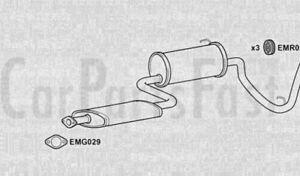 EXHAUST REAR BOX Daihatsu Cuore 0.8 Petrol Hatchback 06