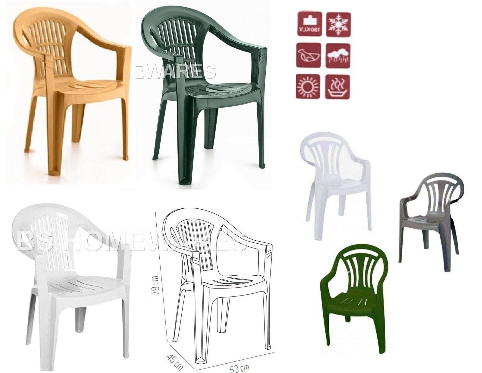 Low Back Lawn Chairs Plastic Low Back Chair Patio Garden Outdoor Chairs