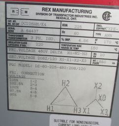 rex 225 kva 3 phase 480x120 208 volt transformer t1186 ebay square d transformers dry 225 kva transformer wiring diagram [ 1200 x 1599 Pixel ]