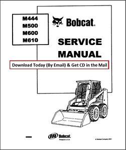 BOBCAT M444 M500 M600 M610 SKID STEER LOADER WORKSHOP