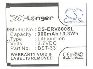 BST-33 Battery for Sony Ericsson Z800 V800i V800 V802