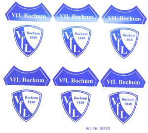 details zu vfl bochum aufkleber sticker 6 logos wappen bundesliga fussball 554