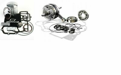 Top/Bottom End Rebuild Kit-Wiseco Crank Shaft/Piston+Ga