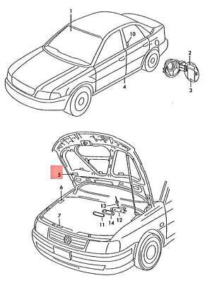 Genuine VW Passat sticker ac refrigerant r134a charge