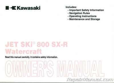 2009 Kawasaki JS800A Jet Ski 800 SX-R Factory Owners