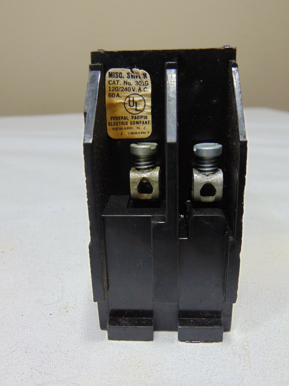 hight resolution of federal pacific fpe 301g 30 amp 120 240v fuse pullouts for sale online ebay
