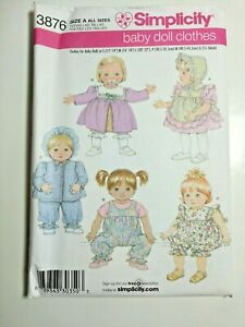 Doll Clothes Sewing Patterns : clothes, sewing, patterns, Simplicity, #3876, Clothes, Sewing, Pattern, 12-14